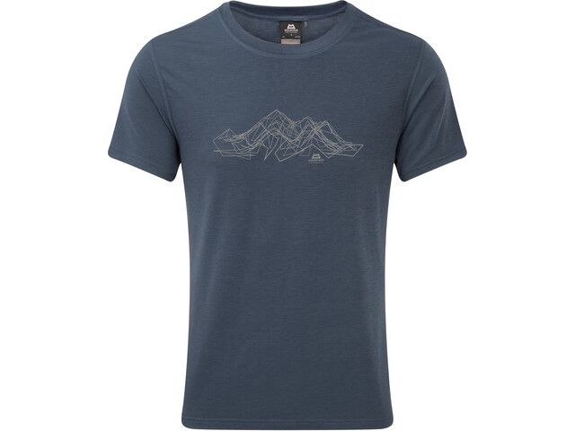 Mountain Equipment Groundup Mountain Tee Herre denim blue